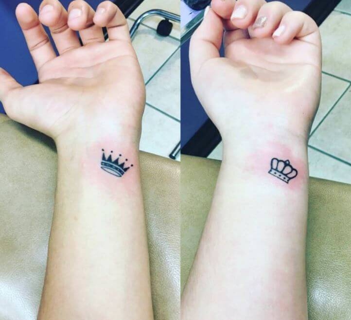 Crown Wrist Tattoo