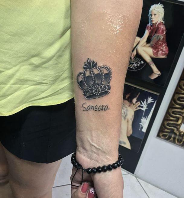 Cute Crown Tattoo