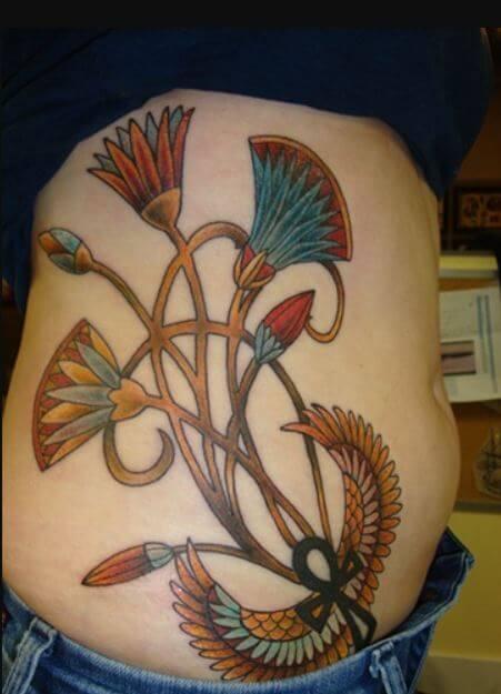 Egyptian Lotus Flower Tattoos