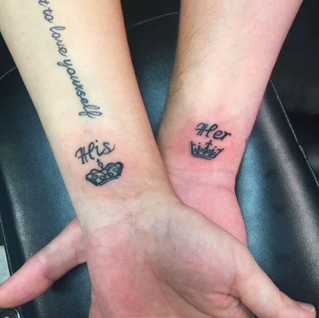 His And Hers Crown Tattoos
