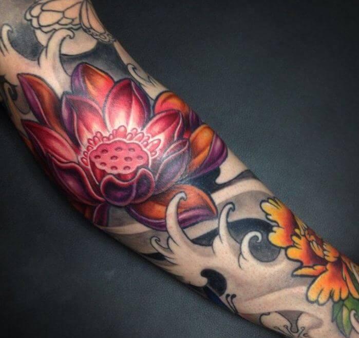 Japanese Lotus Flower Tattoo