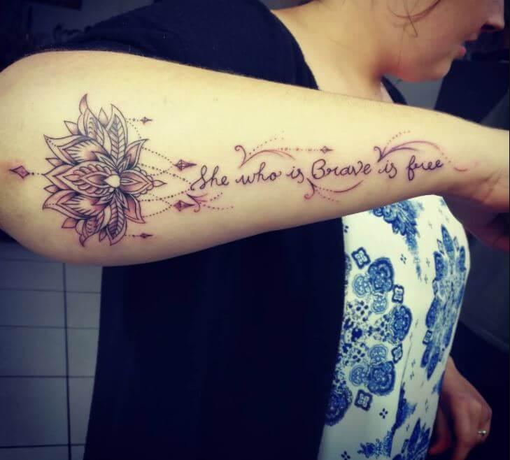 Lotus Flower Mandala Tattoos