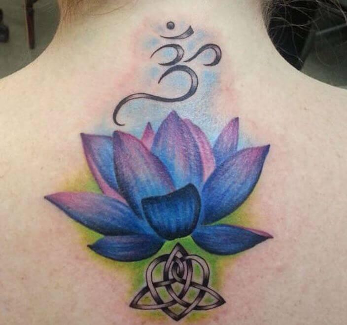 Lotus Flower Om Tattoo