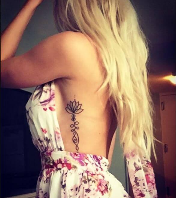 Lotus Flower Rib Tattoo