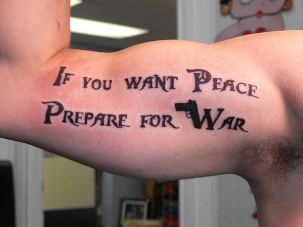 Peace Tatoo Quote