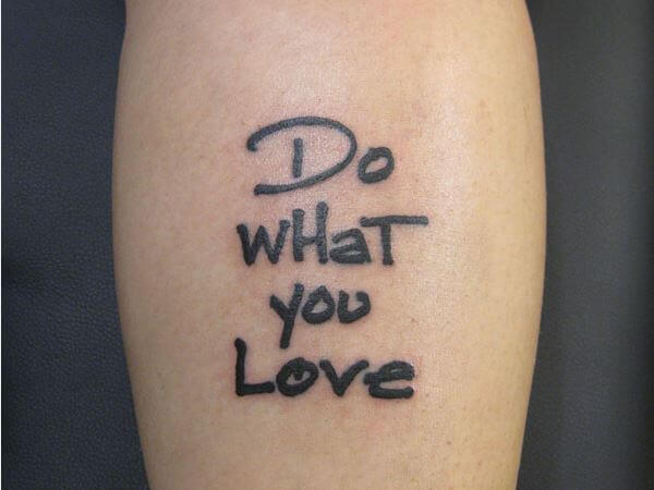 Quote Tattoo Gallery
