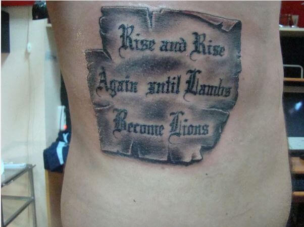 Quote Tattoo Hand