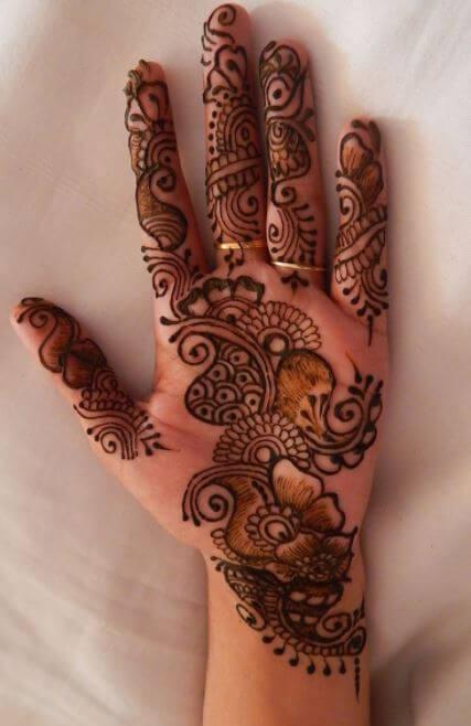 easy simple arabic mehndi designs for girls