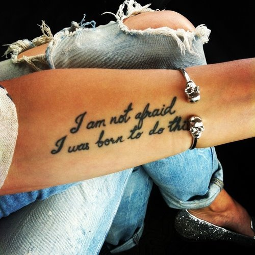 Tattoo Quotes I Am Not Afraid