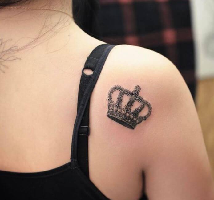 Women Crown Tattoos