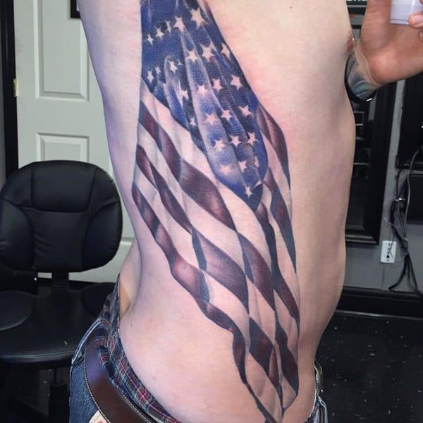 16160916 American Flag Tattoos