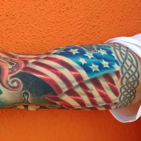 17160916 American Flag Tattoos
