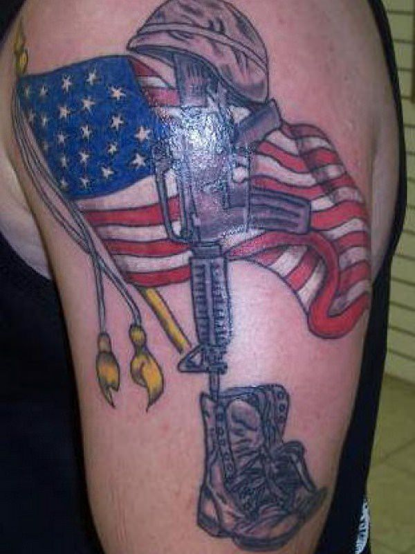 27160916 American Flag Tattoos