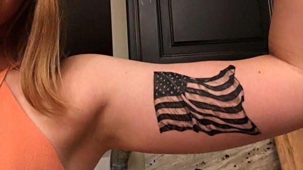6160916 American Flag Tattoos