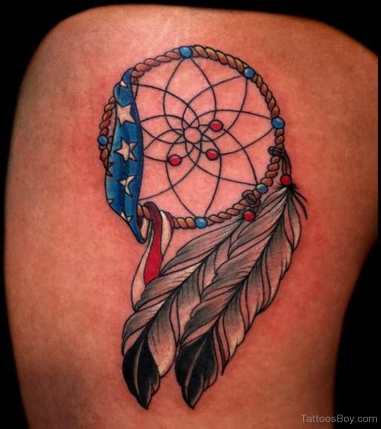 American Dreamcatcher Tattoo