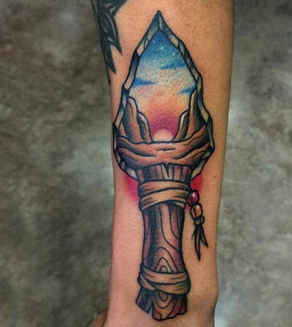 Arrowhead Dagger On Forearm