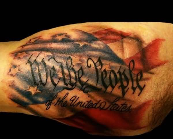Awesome Patriotic American Flag Tattoo