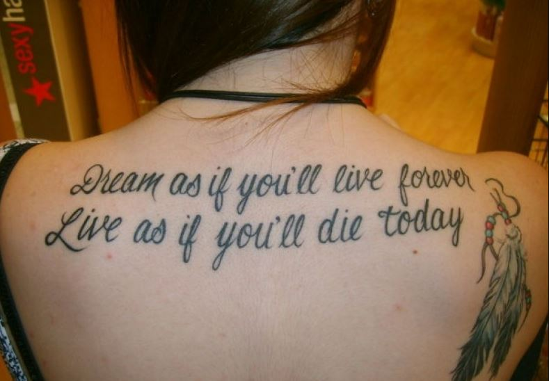 Awesome And Cool Quote Tattoos For Girls