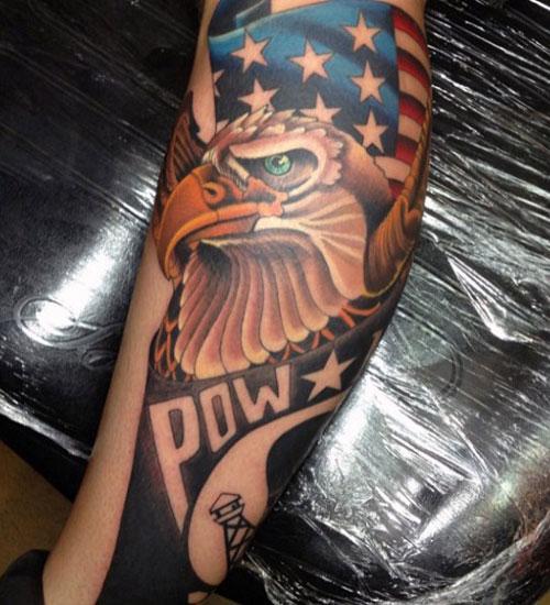 Badass American Eagle Flag Tattoo Ideas