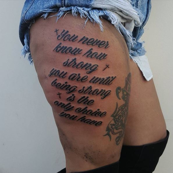 Birthday Quote Tattoos Design For Women