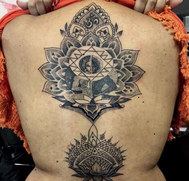 Buddha Back Tattoos For Girls