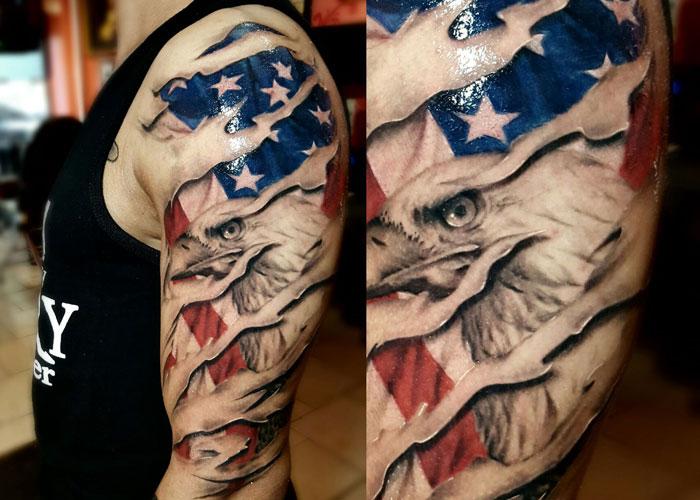 Eagle Flag Tattoo