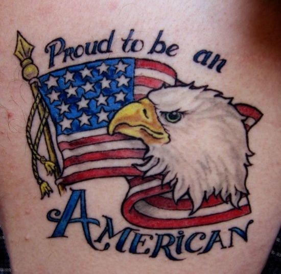 Impressive Patriotic US Flag Tattoo