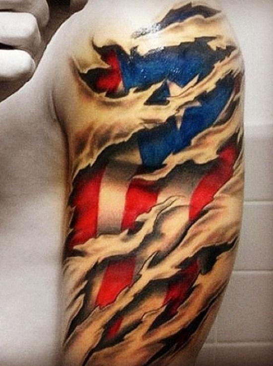 American Flag Tattoo 17