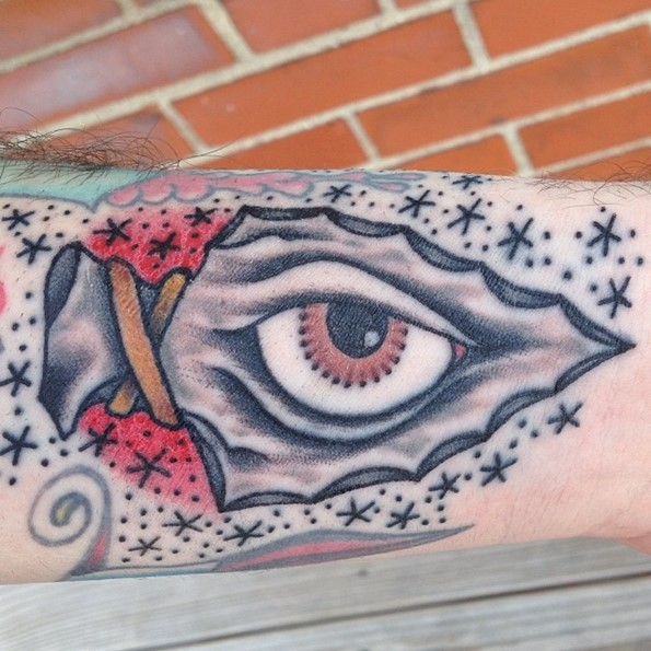 Arrowhead Eye Tattoo