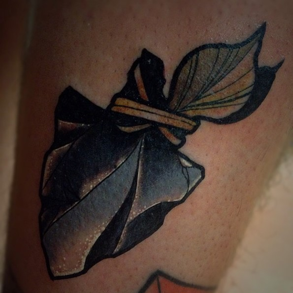 Arrowhead Tattoo White Detail