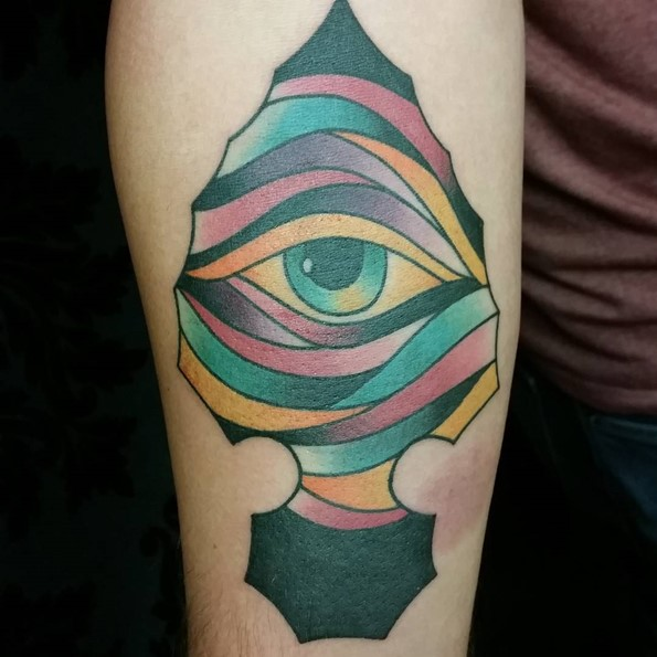 Arrowhead Traditional Tattoo Flash