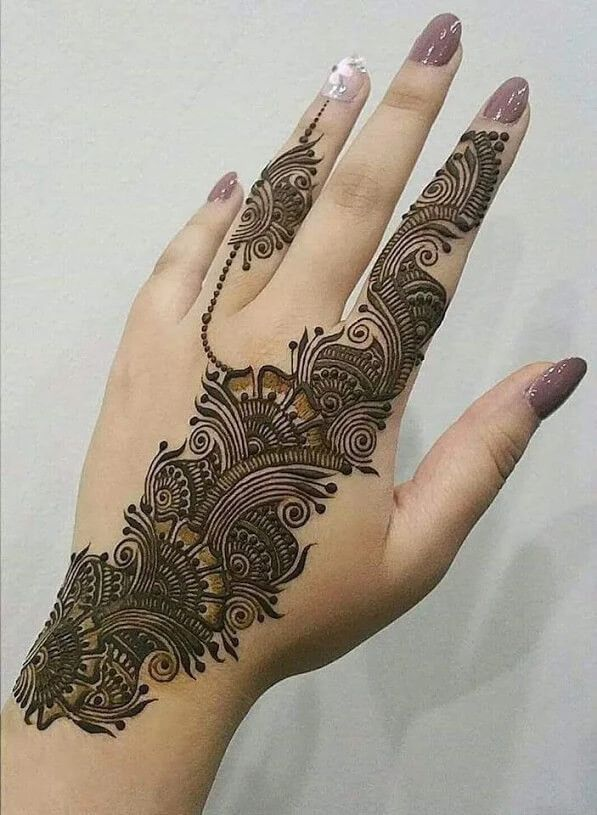 Back Henna Tattoo (10)