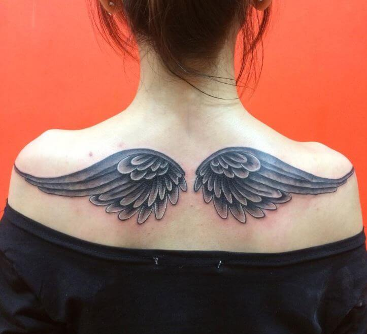 Back Tattoos For Girls Wings