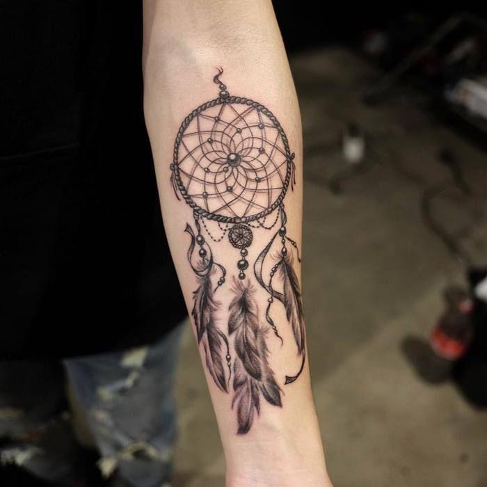 Butterfly Dreamcatcher Tattoo (1)