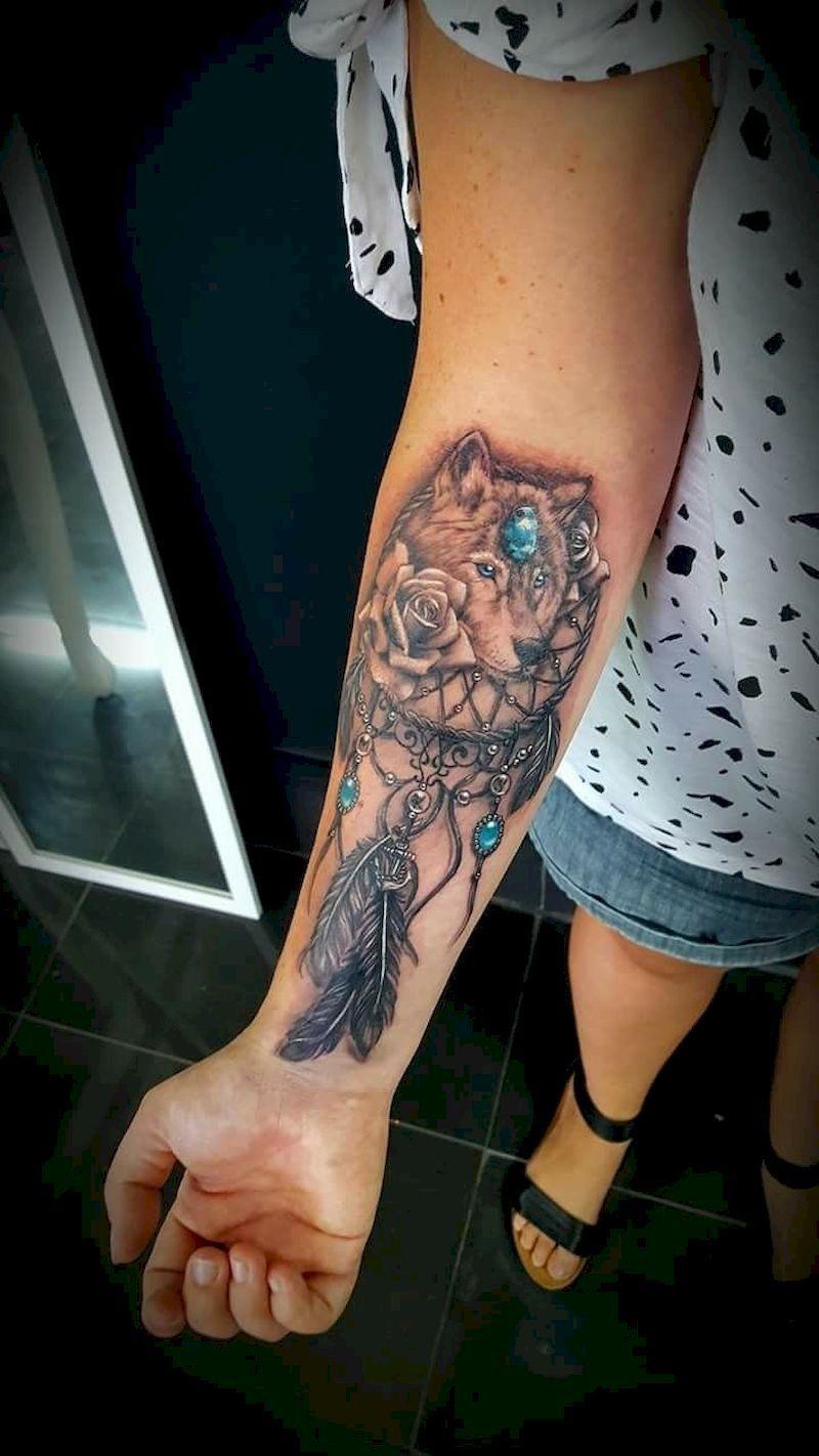 Butterfly Dreamcatcher Tattoo (11)