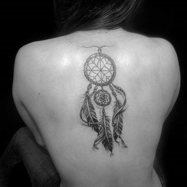 Butterfly Dreamcatcher Tattoo (3)