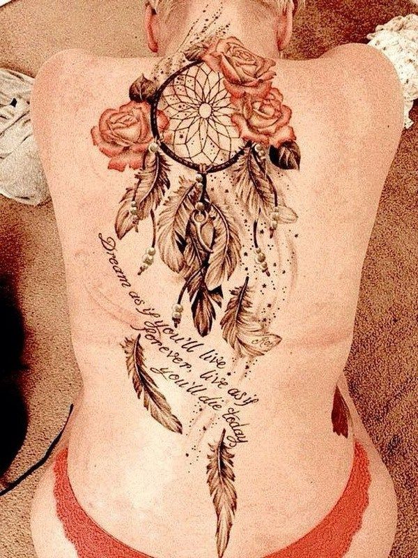 Butterfly Dreamcatcher Tattoo (4)