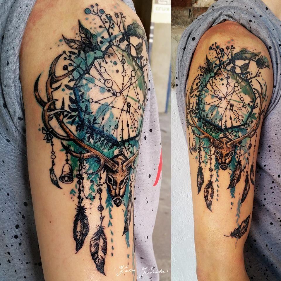 Butterfly Dreamcatcher Tattoo (5)