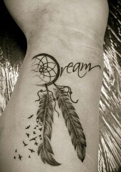 Butterfly Dreamcatcher Tattoo (9)