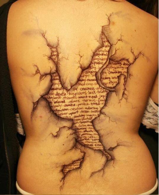 Center Back Tattoos For Girls