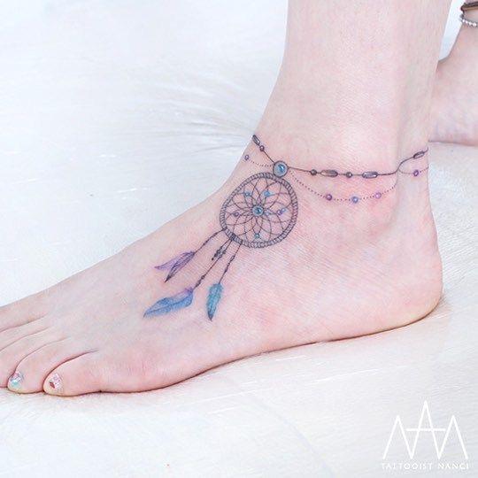 Compass Dreamcatcher Tattoo (1)