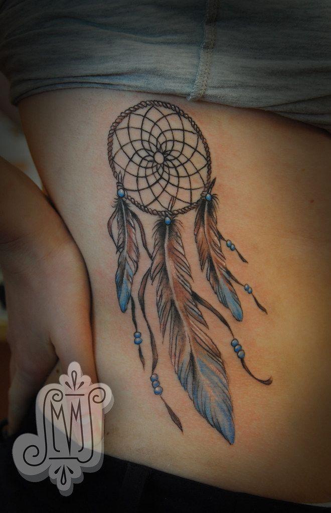 Compass Dreamcatcher Tattoo (11)
