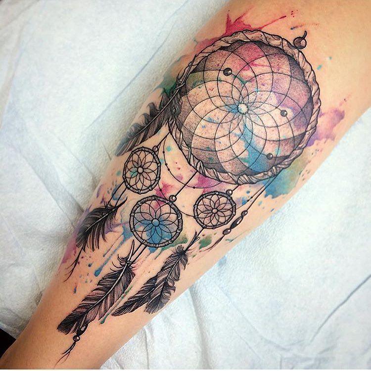 Compass Dreamcatcher Tattoo (4)