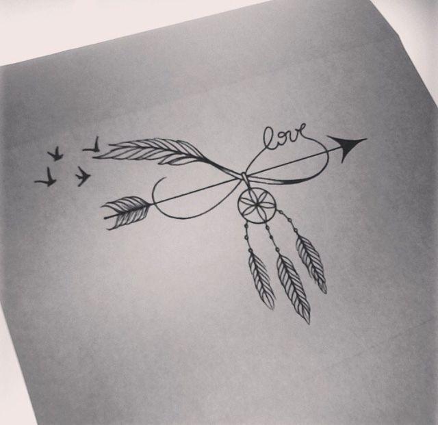 Compass Dreamcatcher Tattoo (8)