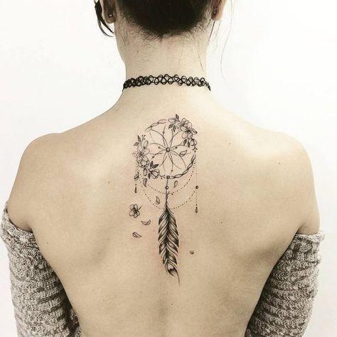 Compass Dreamcatcher Tattoo (9)