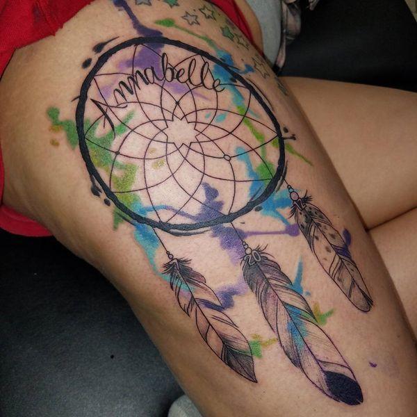 Dreamcatcher Tattoo On Ribs (1)