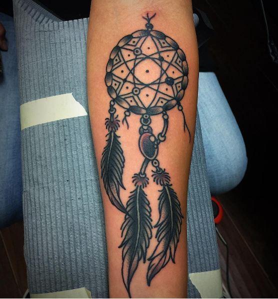 Dreamcatcher Tattoos On Arm