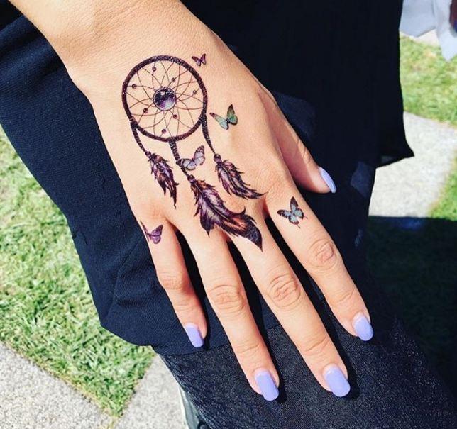 Dreamcatcher Tattoos On Hand