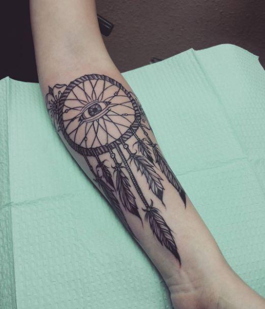 Dreamcatcher Tattoos On Sleeve