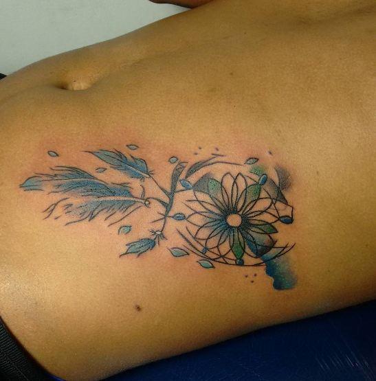 Dreamcatcher Tattoos On Stomach